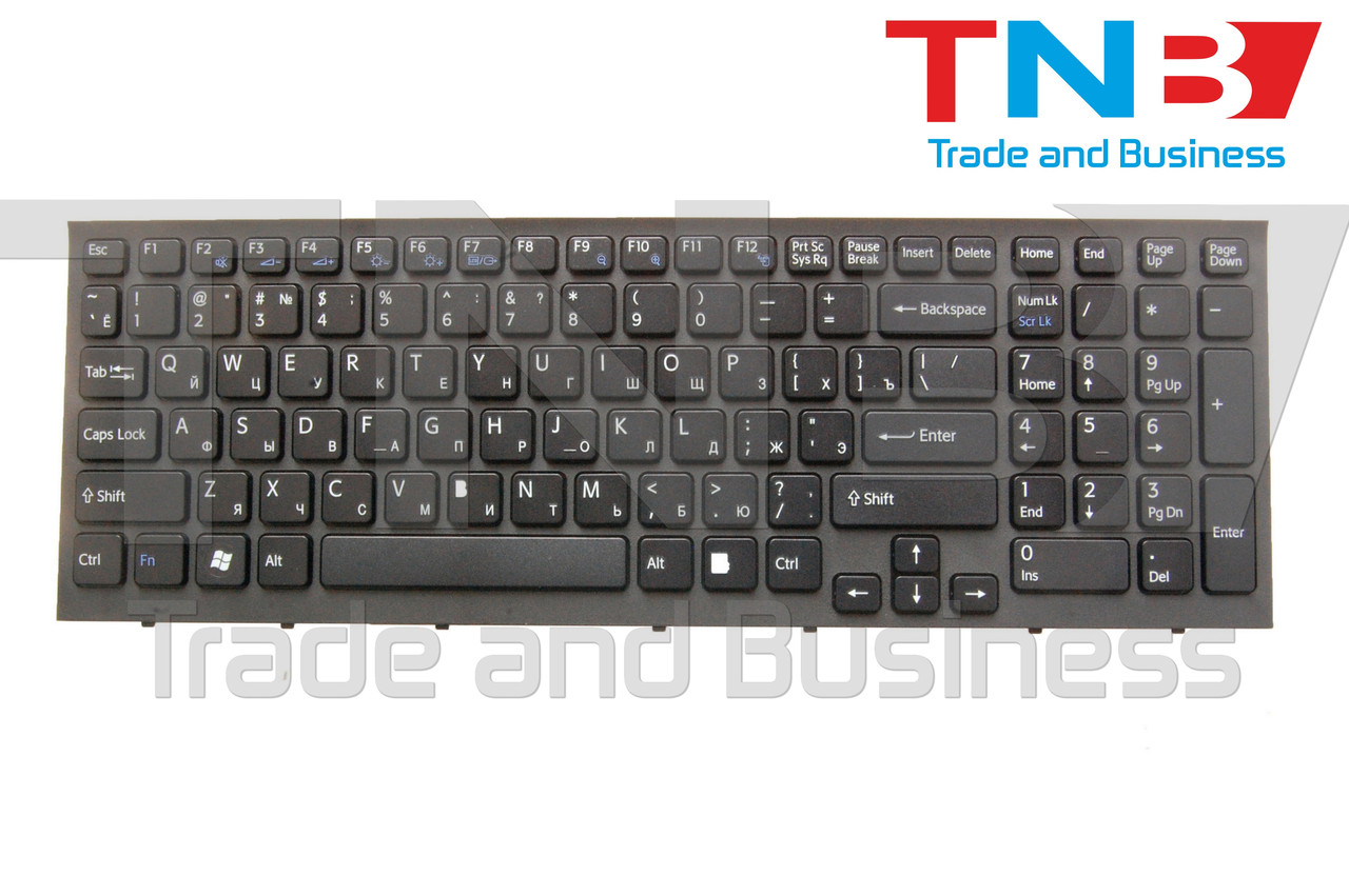 Клавиатура Sony Vaio VPC-EB черная с рамкой RU/US