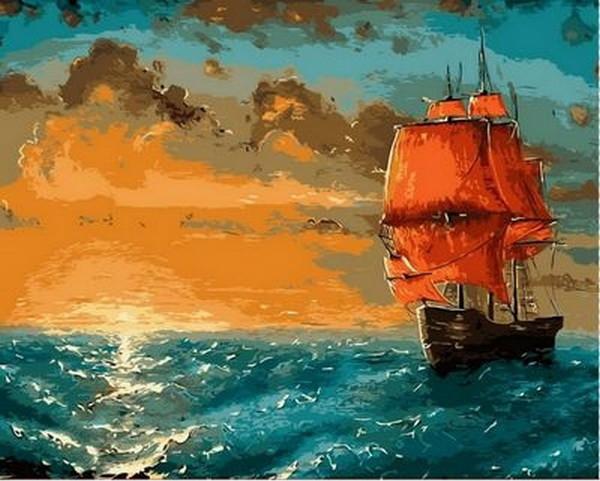 Набор-раскраска по номерам Алые паруса