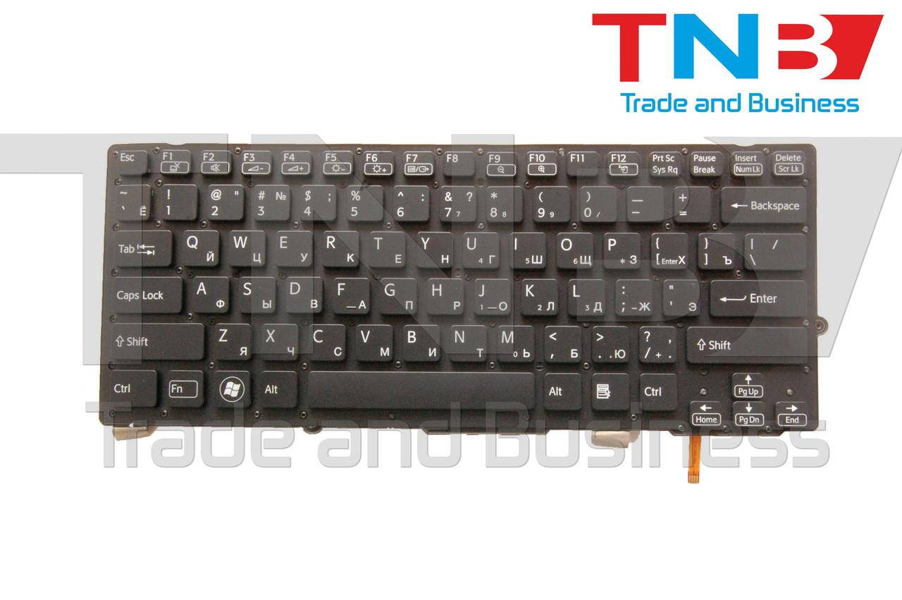 Клавиатура Sony Vaio VPC-SD VPC-SB Series черная без рамки, подсветка RU/US
