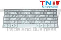 Клавиатура Sony Vaio VPC-S белая рамка серебро