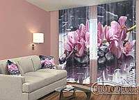 """ФотоШторы """"Орхидея 1"""" 2,5м*2,6м (2 полотна по 1,30м), тесьма"""