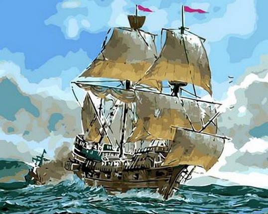 Набор-раскраска по номерам Сражение кораблей , фото 2