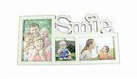 "Фоторамка 3 фото ""Smile"" белая"