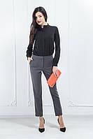 Жіночі костюмні штани сигаретки сірий