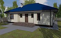 MS-001 популярный проект одноэтажного дома, фото 1