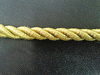 Декоративный шнур кант ø8мм цвет золото