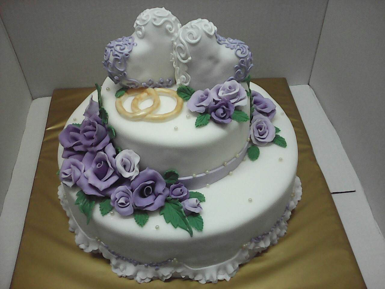 """Весільний торт """"Ажурна серце"""" на замовлення в Дніпропетровську"""