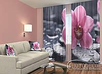 """ФотоШторы """"Орхидея нежность"""" 2,5м*2,0м (2 половинки по 1,0м), тесьма"""