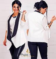 Женская жилетка двухцветная батал