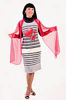 Платье женское ПЛ 705031 XXL / 52 Светло-серый