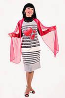 Платье женское ПЛ 705031 3XL / 54 Светло-серый