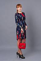 Праздничное женское платье р.42-48 темно-синее V250