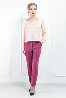 Жіночі костюмні штани сигаретки вишневий