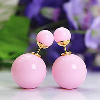 Стильные розовые серьги диор