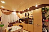 Натяжной потолок на кухне - плюсы и минусы