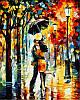 Картины по номерам 40×50 см. Танец под дождем Художник Леонид Афремов