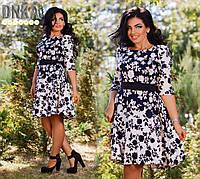 Платье с с юбкой клеш, размер 50,52,54,56 код 425Г