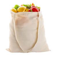 Эко-сумка для покупок хлопковая с длинной ручкой 370×410 мм