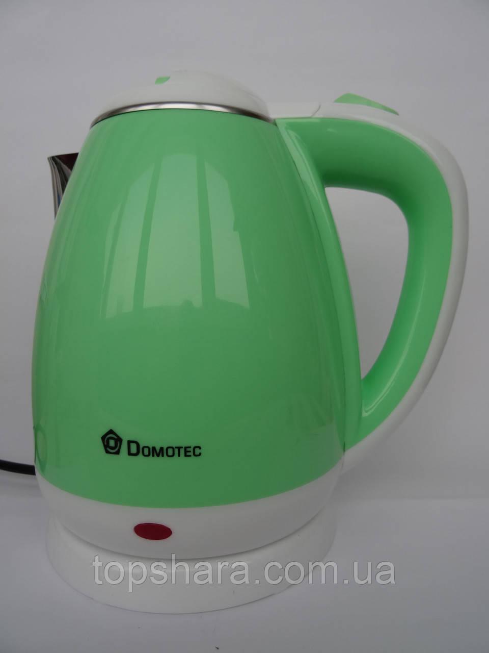 Электрочайник Domotec DT 901 чайник 1.8л. салатовый