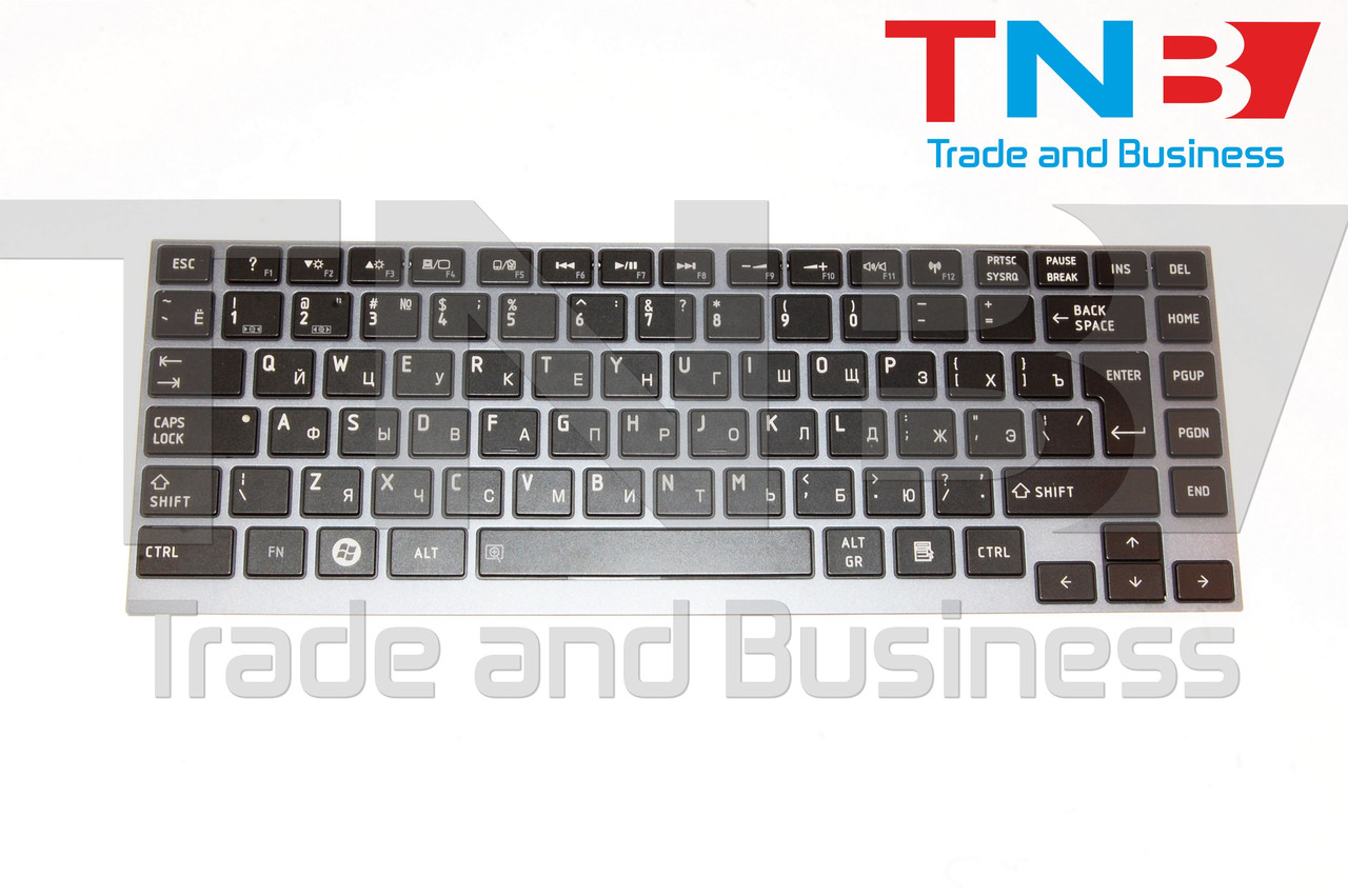 Клавіатура Toshiba PORTEGE Z830 чорна+синяя рамка
