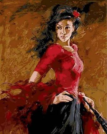 Набор-раскраска по номерам Танцовщица фламенко  худ. Атрошенко Андрей, фото 2