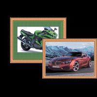 Автомобили - схемы для вышивки бисером