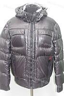 Зимняя мужская куртка пуховик с капюшоном очень теплая черная