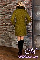 Женское зимнее пальто с шикарным мехом р. S-L арт. Эльпассо букле песец зима 8068, фото 2