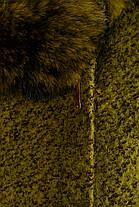 Женское зимнее пальто с шикарным мехом р. S-L арт. Эльпассо букле песец зима 8068, фото 3