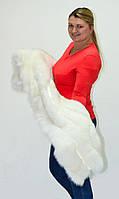 Палантин из меха песца альбиноса. свадебная накидка