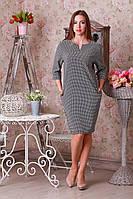 Женское платье ромбик р.50-54 Y253-1