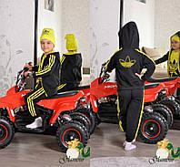 """Крутой, спортивный костюм тройка для ребенка """"Adidas  черный с яркими полосками"""" РАЗНЫЕ ЦВЕТА"""