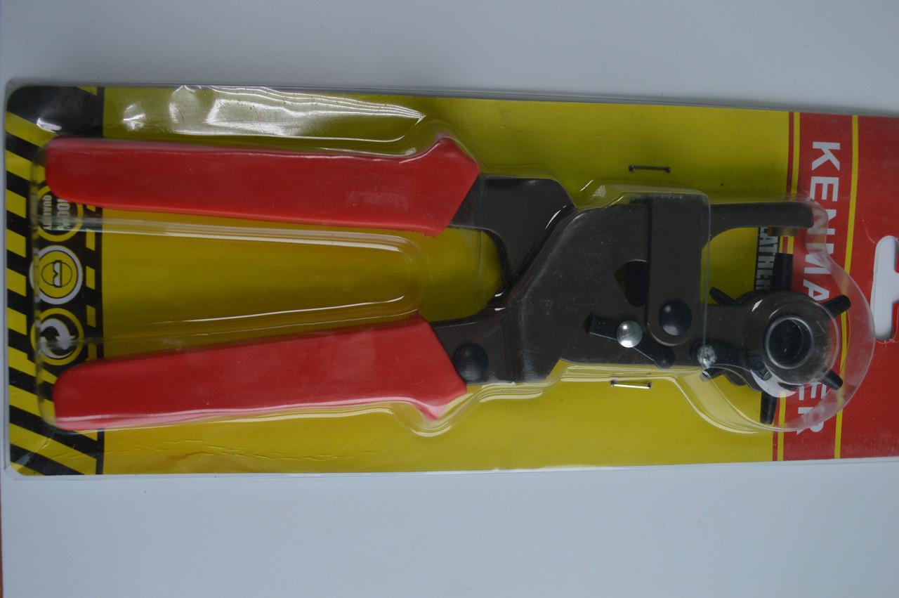 Діркопробивач револьверний для люверсів і кнопок , кількість пробійників 6
