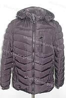 Зимняя мужская куртка с капюшоном очень теплая темно фиолетовая