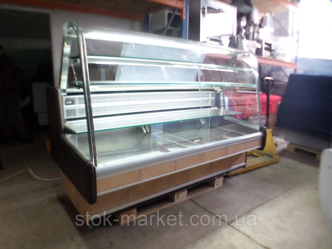 Кондитерская холодильная витрина Arneg VENEZIA 1.9 м. б/у., кондитерская витрина б у, холодильная камера б у,