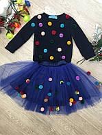 Фатиновая юбка с помпонами