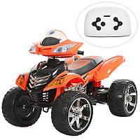 Квадроцикл детский M 3101 (MP3) EBLR-7, кожаное сиденье, оранжевый***
