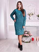 Теплое вязаное платье №1758