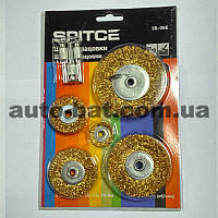 Набор щёток-крацовок дисковых для дрели 18-366, 5 шт.