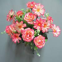 Роза касмея (7+12 голов) букет искусственный