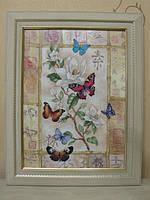 """Картина """"Бабочки"""" (вышита крестиком)"""