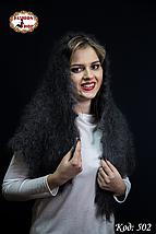 Оренбургский пуховый платок-косынка Беатриса 120х90см, фото 3