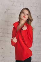 Женский джемпер флисовый красный