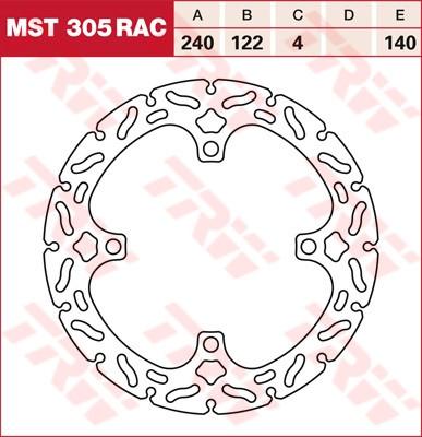 Тормозной диск TRW / Lucas MST305RAC