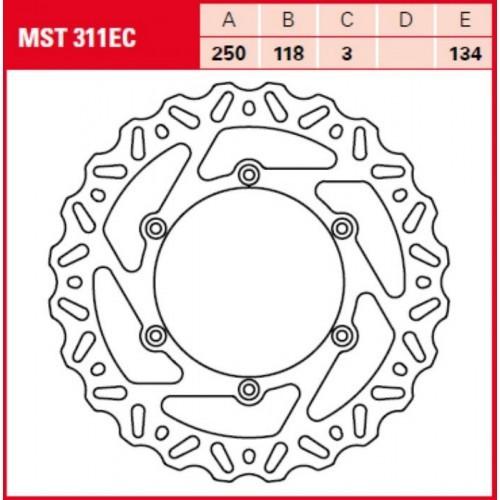 Тормозной диск TRW / Lucas MST311EC