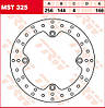 Тормозной диск TRW / Lucas MST325