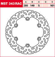 Тормозной диск TRW / Lucas MST343RAC
