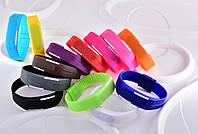 Силиконовые светодиодные Led часы-браслет мужские и женские