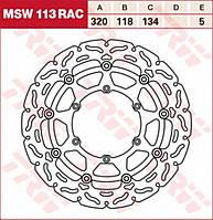 Тормозной диск TRW / Lucas MSW113RAC