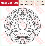 Тормозной диск TRW / Lucas MSW241RAC